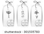 vintage vector set of vertical... | Shutterstock .eps vector #301535783