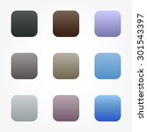 set of nine different colored... | Shutterstock .eps vector #301543397
