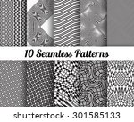 set of 10 abstract patterns.... | Shutterstock .eps vector #301585133