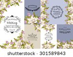 wedding invitation cards with... | Shutterstock .eps vector #301589843