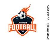 football logo design  soccer... | Shutterstock .eps vector #301661093