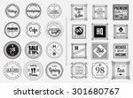 circle and square badges design ... | Shutterstock .eps vector #301680767