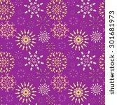 christmas seamless pattern.... | Shutterstock .eps vector #301681973