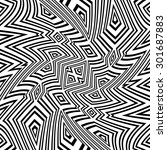 black and white vector seamless ... | Shutterstock .eps vector #301687883