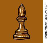 brown chess piece elephant...