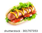 Hotdog With Big Sausage And...