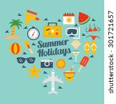 summer icons | Shutterstock .eps vector #301721657