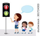 pedestrian traffic light.... | Shutterstock .eps vector #301724303