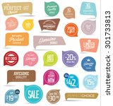 premium  quality modern labels... | Shutterstock .eps vector #301733813