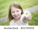 an adorable little girl in the... | Shutterstock . vector #301734353