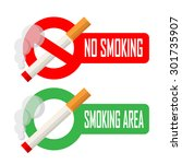no smoking and smoking area... | Shutterstock .eps vector #301735907