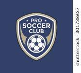 soccer football badge logo... | Shutterstock .eps vector #301738637