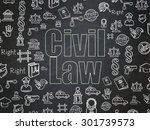 law concept  chalk green text... | Shutterstock . vector #301739573