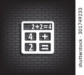 icon calculator. icon. vector... | Shutterstock .eps vector #301749233
