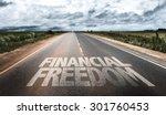 financial freedom written on... | Shutterstock . vector #301760453