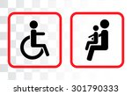 icons for bus   place for...   Shutterstock .eps vector #301790333