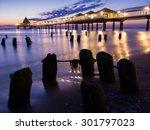 dawn on the pier of heringsdorf ...   Shutterstock . vector #301797023