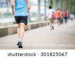 old man running in city park | Shutterstock . vector #301825067