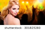 attractive girl in a club | Shutterstock . vector #301825283