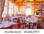cafe interior with the served... | Shutterstock . vector #301862957