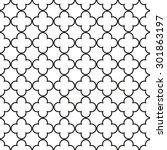 seamless vintage geometric... | Shutterstock .eps vector #301863197