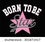 varsity graphic for t shirt | Shutterstock .eps vector #301871417