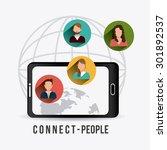 connect people design  vector... | Shutterstock .eps vector #301892537