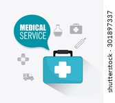 medical healtcare design ... | Shutterstock .eps vector #301897337