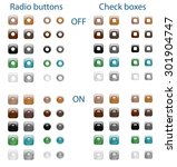 set of glossy web radio buttons ... | Shutterstock . vector #301904747