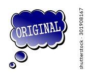 original white stamp text on... | Shutterstock . vector #301908167