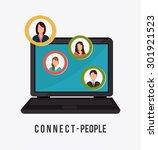 connect people design  vector... | Shutterstock .eps vector #301921523