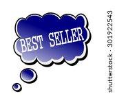 best seller white stamp text on ... | Shutterstock . vector #301922543