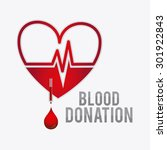 blood donation design  vector... | Shutterstock .eps vector #301922843