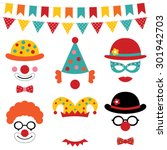 Circus And Clown Vector Photo...