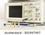 Small photo of Oscilloscope with accessories
