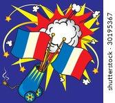 bastille day celebration with... | Shutterstock .eps vector #30195367