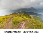 storm clouds over the mountains.... | Shutterstock . vector #301955303