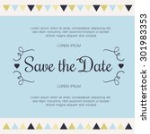 save the date  invitation card... | Shutterstock .eps vector #301983353