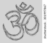 om sign sketch  eps10 vector  | Shutterstock .eps vector #301997867