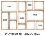 3d picture frame design vector | Shutterstock .eps vector #302004527