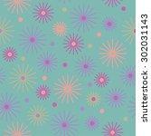 seamless decorative pattern in... | Shutterstock .eps vector #302031143