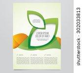 vector business brochure  flyer ... | Shutterstock .eps vector #302033813