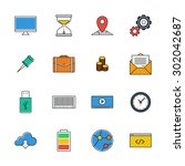 icons vector set. color line...