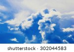 huge cumulus clouds against the ... | Shutterstock . vector #302044583