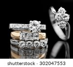 jewellery diamond ring on a... | Shutterstock . vector #302047553
