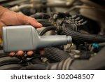 automobile oil maintenance... | Shutterstock . vector #302048507