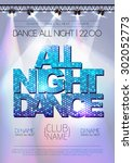 disco background. all night...   Shutterstock .eps vector #302052773