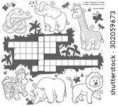 Vector Colorless Crossword ...