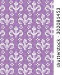 knitted seamless pattern   Shutterstock .eps vector #302081453