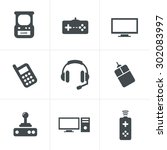 video games icon set   Shutterstock .eps vector #302083997